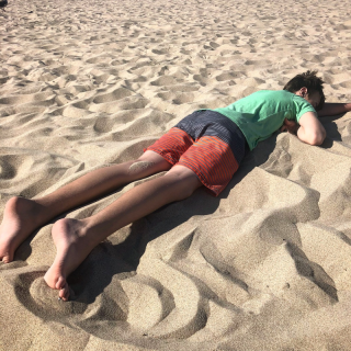 Passed out at Hermosa Beach